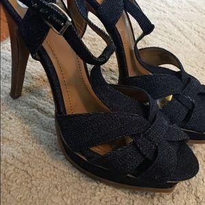 BCBG Denim sandals
